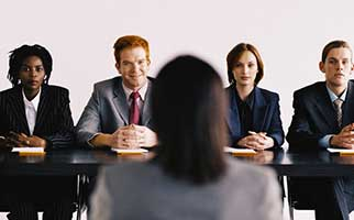 stock photo of a job interview